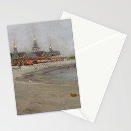 Narragansett Beach, Narragansett, Rhode Island Landscape by Hugo August Bernhard Breul Stationery Cards