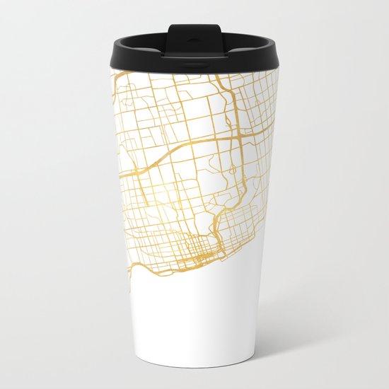 TORONTO CANADA CITY STREET MAP ART Metal Travel Mug