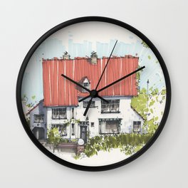 Residential Summer House Wall Clock