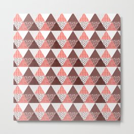 Triangle Quilt in Red Metal Print