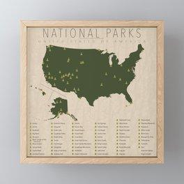 US National Parks Framed Mini Art Print
