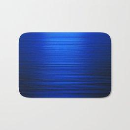 Sunset on the Water-Deep Blue Bath Mat