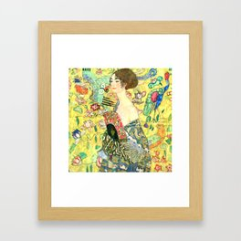 "Gustav Klimt ""Lady with fan"" Framed Art Print"