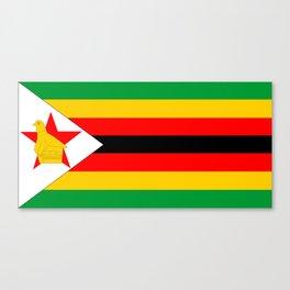 Zimbabwe country flag Canvas Print