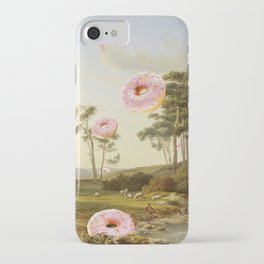 CLOUDY WITH A CHANCE OF DONUTS iPhone Case
