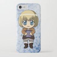 shingeki no kyojin iPhone & iPod Cases featuring Shingeki no Kyojin - Chibi Armin by Tenki Incorporated