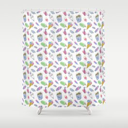 Birthday party candy art Shower Curtain