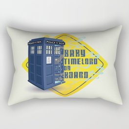 Doctor Who Tardis - Baby Timelord on Board Rectangular Pillow