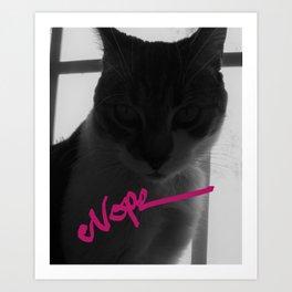 NOPE kitty Art Print