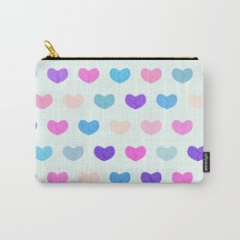 Colorful Cute Hearts II Carry-All Pouch