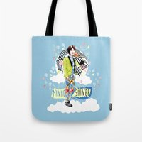 shinee Tote Bags featuring SHINEE MINHO by Haneul Home