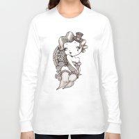 burlesque Long Sleeve T-shirts featuring Chubby Burlesque by Sabrina Eras