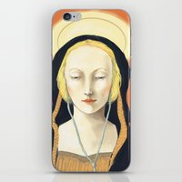 madonna iPhone & iPod Skins featuring Musical Madonna by Eleanor Webber