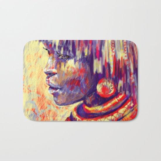 African portrait Bath Mat