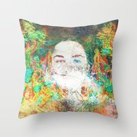 serenity Throw Pillows featuring Serenity by J.Lauren