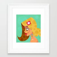 bride Framed Art Prints featuring Bride by quackdesigns