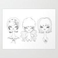 Schoolgirls Art Print