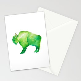 Green Bison Stationery Cards