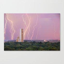 Electric Night - CityPlex Towers - Tulsa Oklahoma Canvas Print