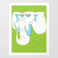 Elephant Gem Art Print