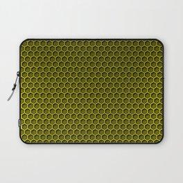 Yellow & Black Digital Honeycomb Carbon Fiber Laptop Sleeve