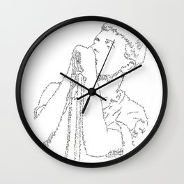 Ian Curtis WordsPortrait Wall Clock