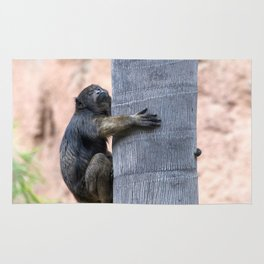 Howler Monkey Hang on tight Rug