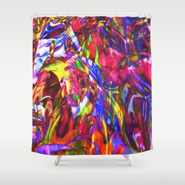 Fluid Painting  Shower Curtain
