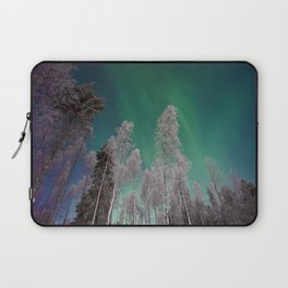 Northern Lights and White Trees (Color) Laptop Sleeve