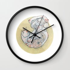 The lady and the cat. Wall Clock