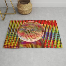 Criss Cross lights in the crystal ball Rug