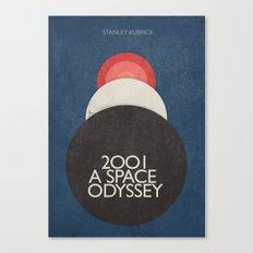 2001 a Space Odyssey, Stanley Kubrick alternative movie poster - dark blue  canvas - interior design Canvas Print