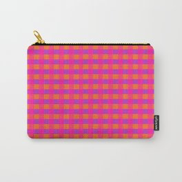 Jazzy Checks in Orange, Pink and Purple Carry-All Pouch