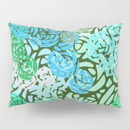 Colorful Overlapping Roses on Roses Print Design 2 Pillow Sham