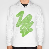 lime green Hoodies featuring lime blot by madthings
