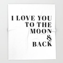moon & back Throw Blanket