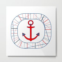 Tidy Seas Metal Print