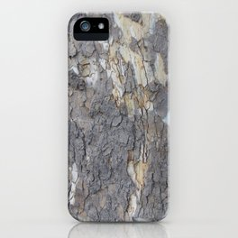 brown sycamore bark iPhone Case