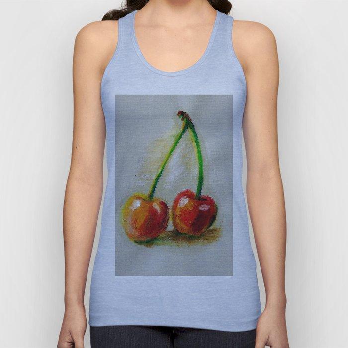 Cherries. Oil painting. Unisex Tank Top
