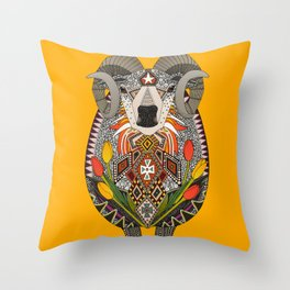 Aries ram saffron Throw Pillow