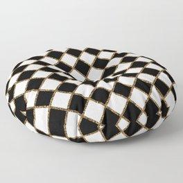 Geometric ornament gold seamless pattern Floor Pillow