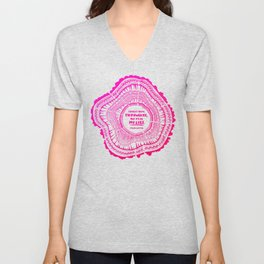 My List – Pink Ombré Ink Unisex V-Neck