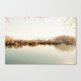 Autumn Lake Scene Canvas Print