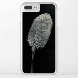 Black and White Banksia Clear iPhone Case