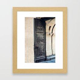 Castle Door Framed Art Print