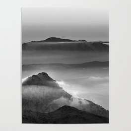 Mist at the mountains. Poster