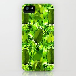 Chartruse-Yellow-Green Peridot Gems Abstract for August iPhone Case