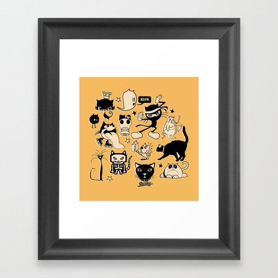 Cat Menagerie Framed Art Print
