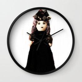 Pretty in Black Doll Wall Clock