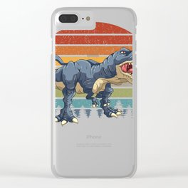 Vintage T Rex Tyrannosaurus T-Rex & Dinosaurs Dino Clear iPhone Case
